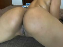 LATINA WIFE SHOWING PUSSY AND ASS