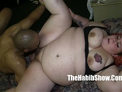 monster dick redzilla bangs her BBW white pussy mixed ho