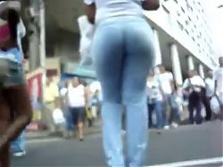 Tight jeans booty