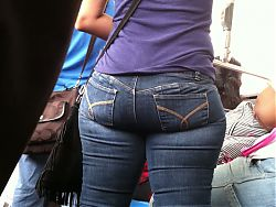 Candid Latina Booty on NYC Bus 1