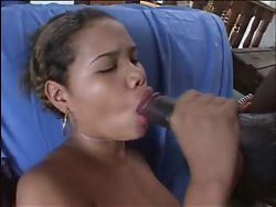 Hard Black cock stretches out Latin girl