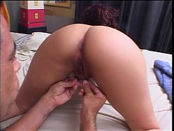 Hottie gets her hairy pussy drilled