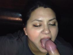 Chubby latina loves cum on her face